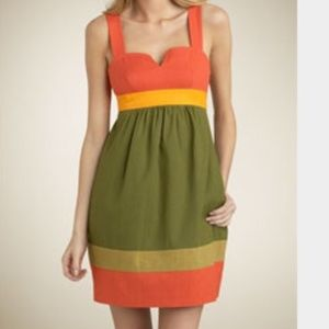 Trina Turk Silk Blend Colorblocked Dress